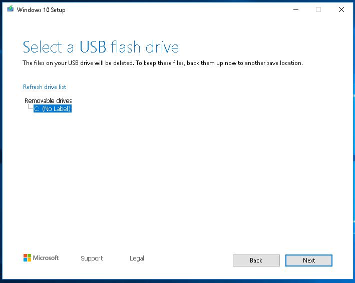 Select USB Flash