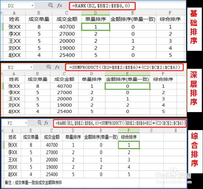 Excel中如何实现多条件排序