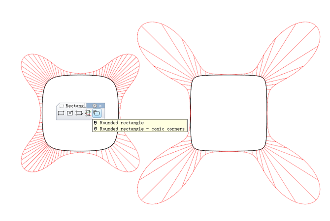 iOS icon rounded corner study Conic Corners Rectangle