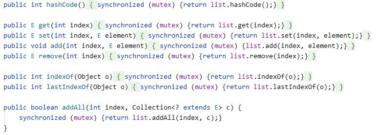 使用了线程同步关键字synchronized