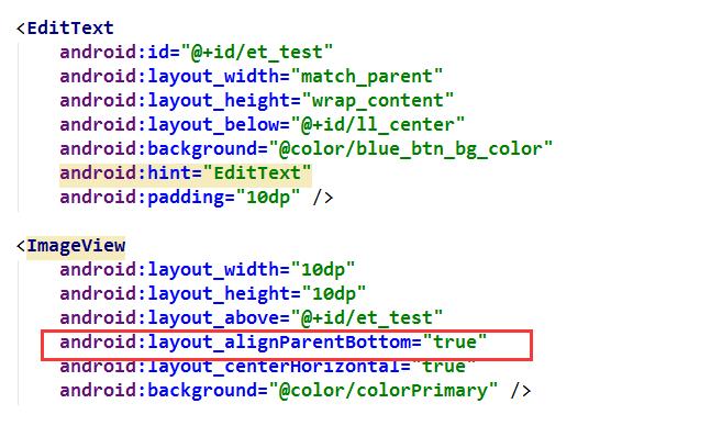 大家可以改一下布局,会发现只有蓝色的点向上移动了