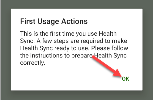 """Tap """"OK"""" in the """"First Usage Actions"""" popup."""