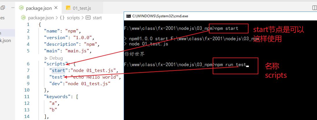 自定义npm脚本