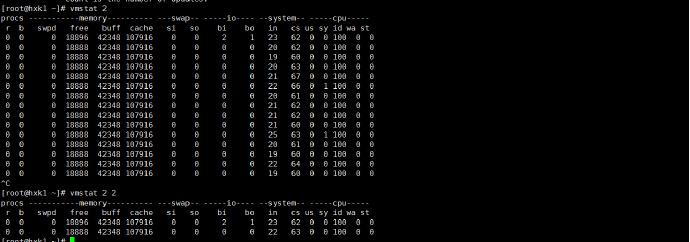 查看内存,CPU的状态几个命令的简单学习笔记