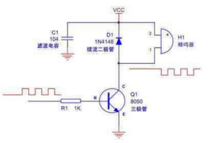 蜂鸣器驱动电路图大全(五款蜂鸣器驱动电路原理图)