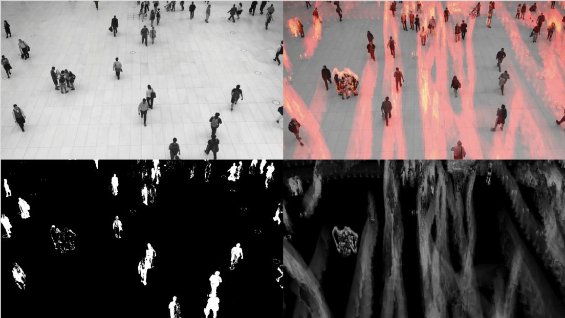 使用OpenCV和Python构建运动热图视频