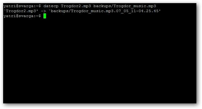 appended filename output