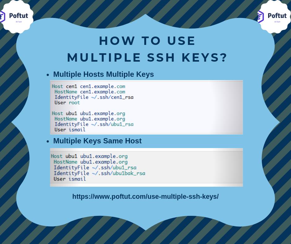 How To Use Multiple SSH Keys? Infografic