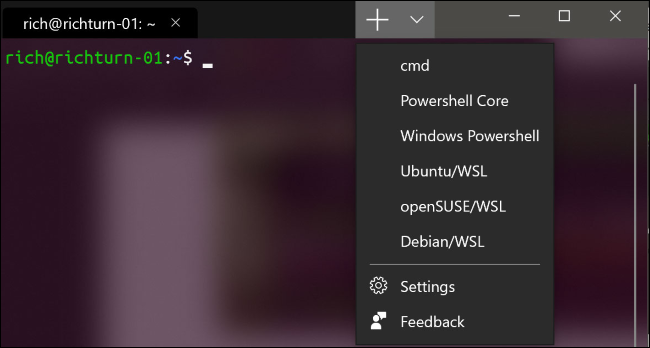 Opening a new tab in the new Windows Terminal