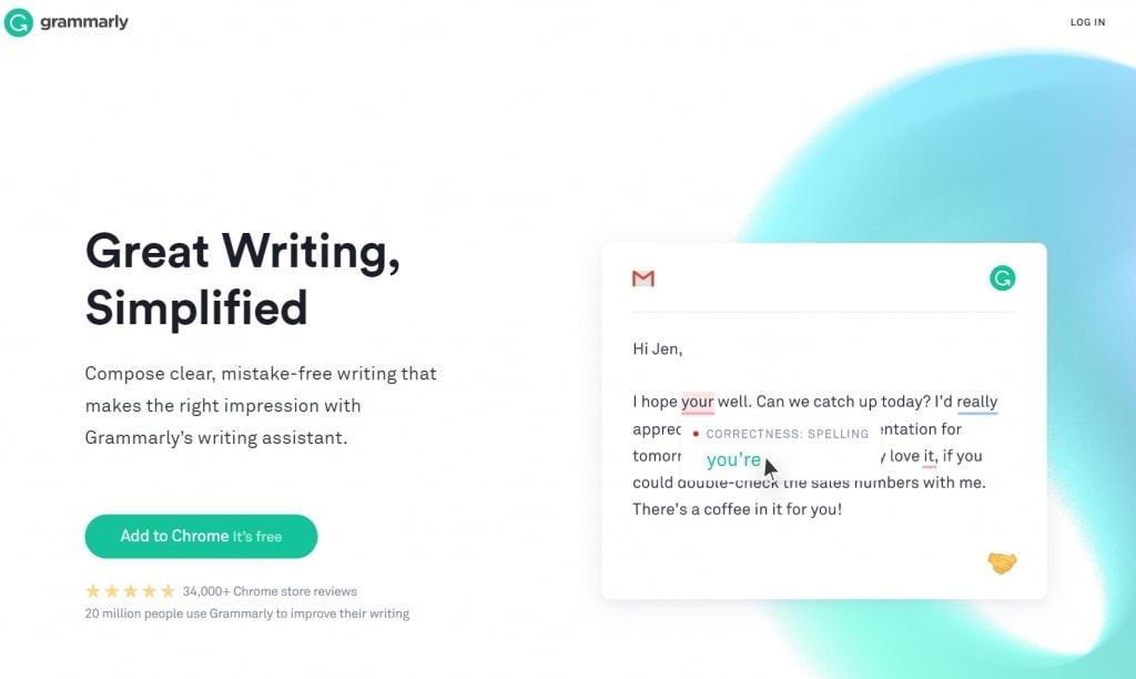 免费英文语法检查工具Grammarly