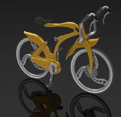 SolidWorks渲染的自行车