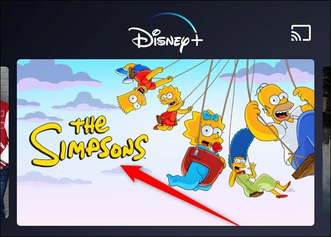 Disney+ App Choose TV Show