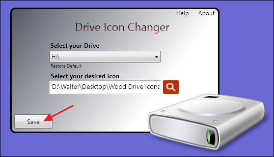 drive icon changer window