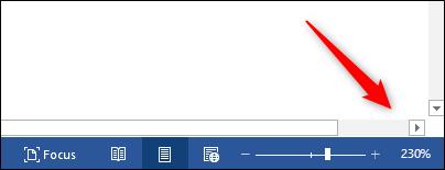 horizontal scroll bar appears