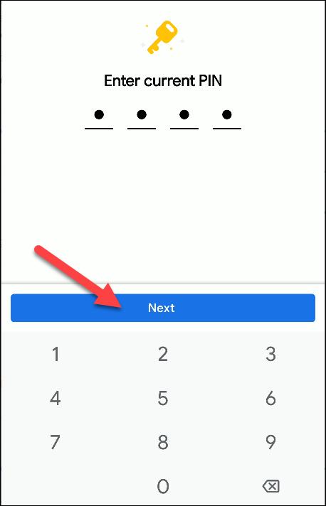 files by google change pin