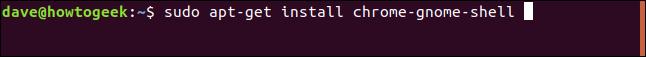 sudo apt-get install chrome-gnome-shell in a terminal window