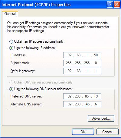Set Static IP Address For Windows