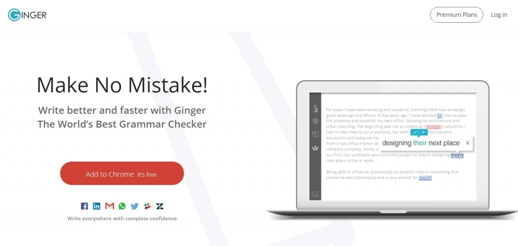 在线英文拼写语法检查软件Ginger