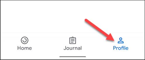 "Tap ""Profile"" in Google Fit."