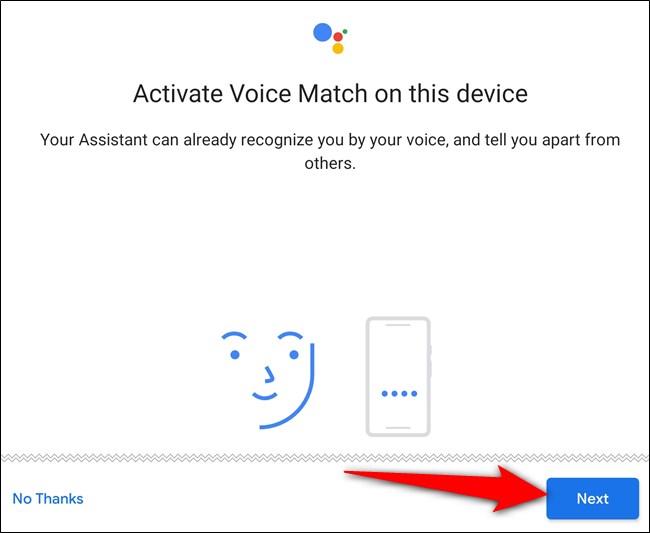 تفعيل Voice Match