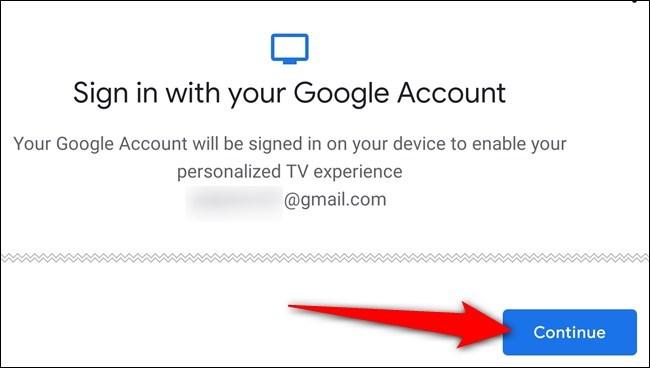 اتبع التعليمات التي تظهر على الشاشة لتسجيل الدخول إلى حساب Google الخاص بك