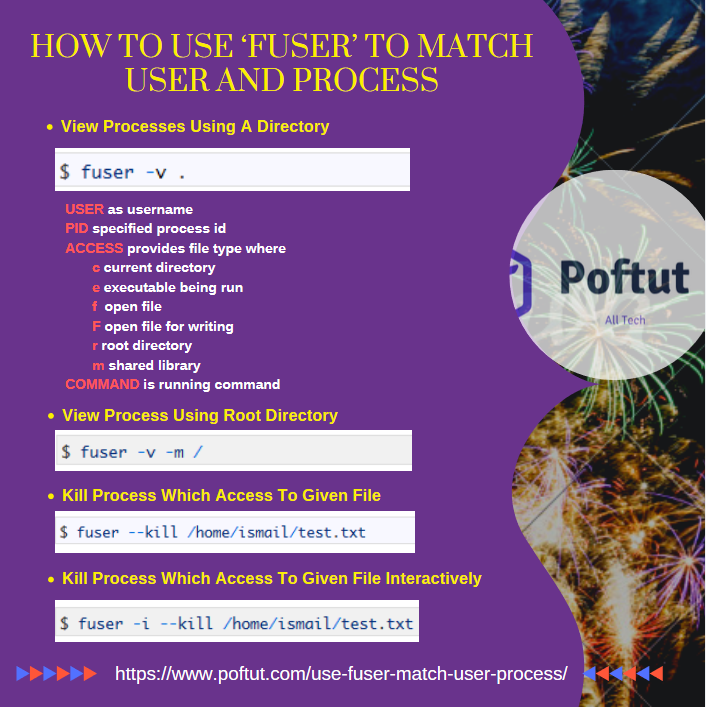 How to Use 'fuser' to Match User and Process Infographic