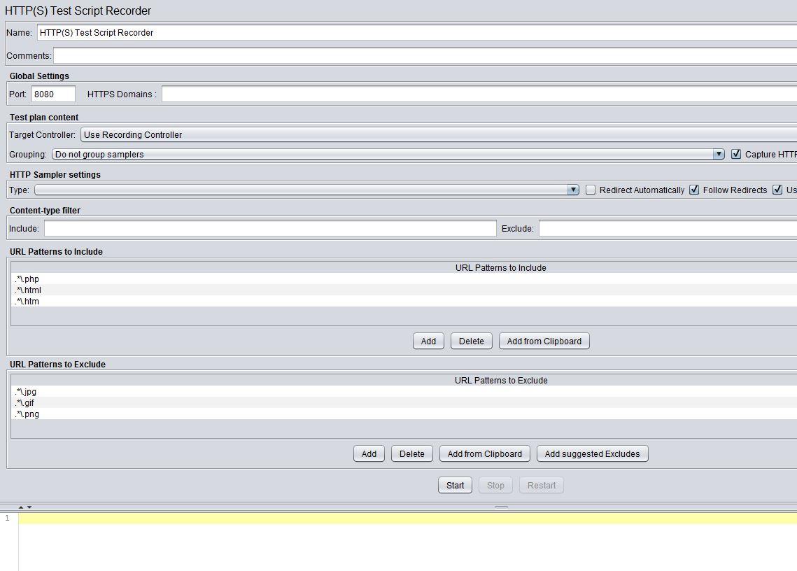 JMeter记录工作台测试记录器配置