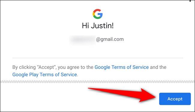 اقبل شروط خدمة Google