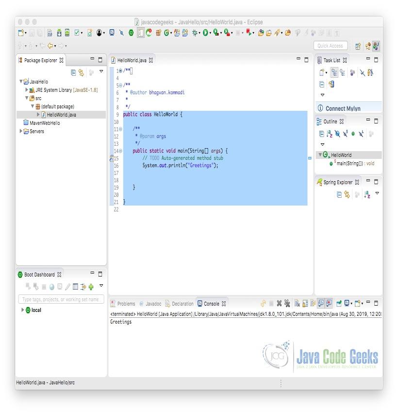 Java和JavaScript之间的区别-Java Hello