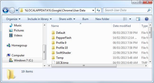chrome-user-data-folder