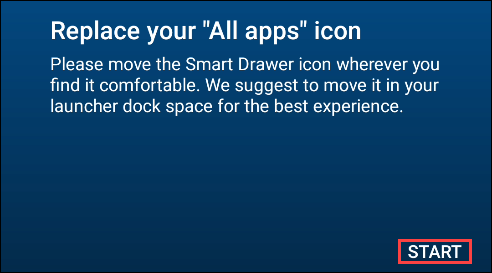 replace app drawer