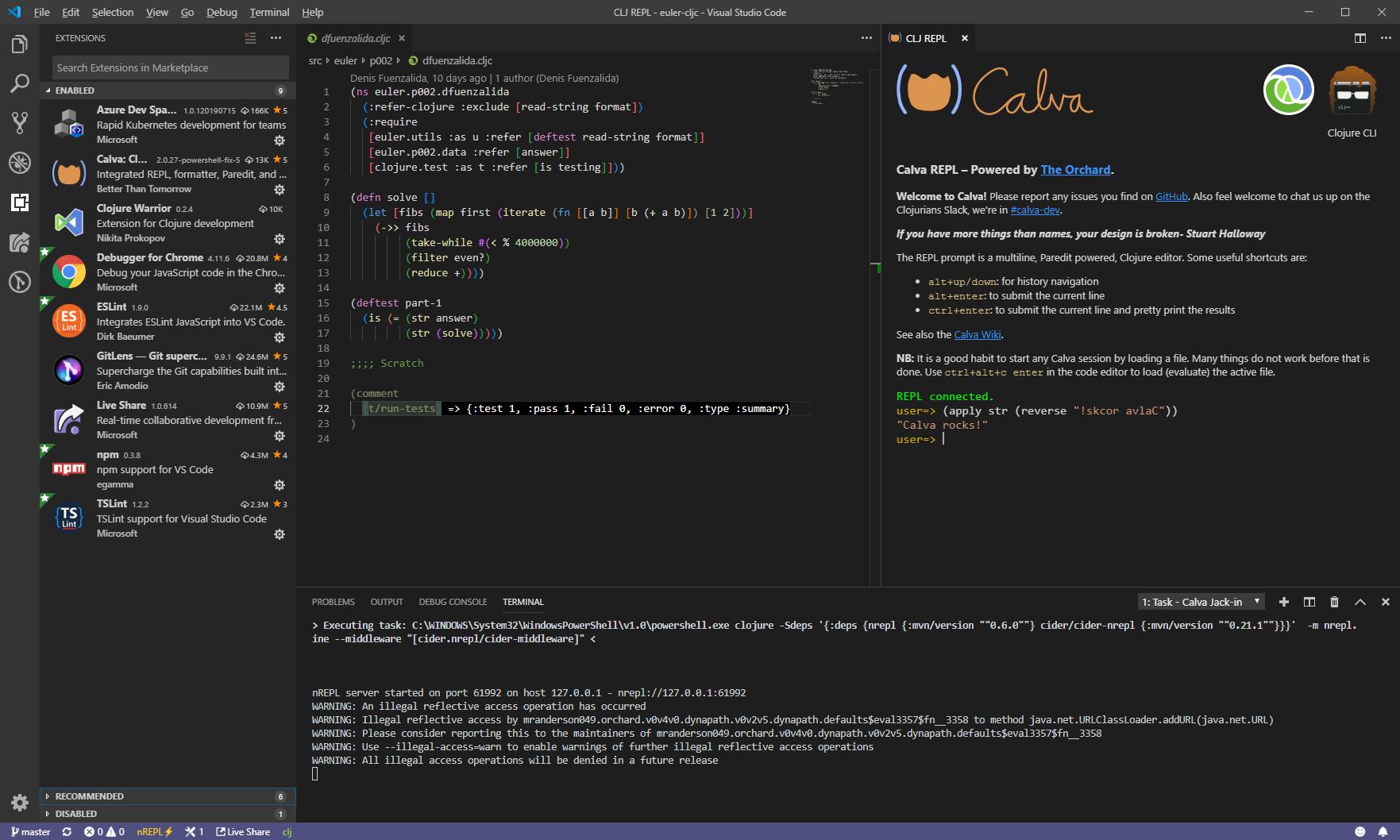 Calva-Windows-Clojure-CLI-tools