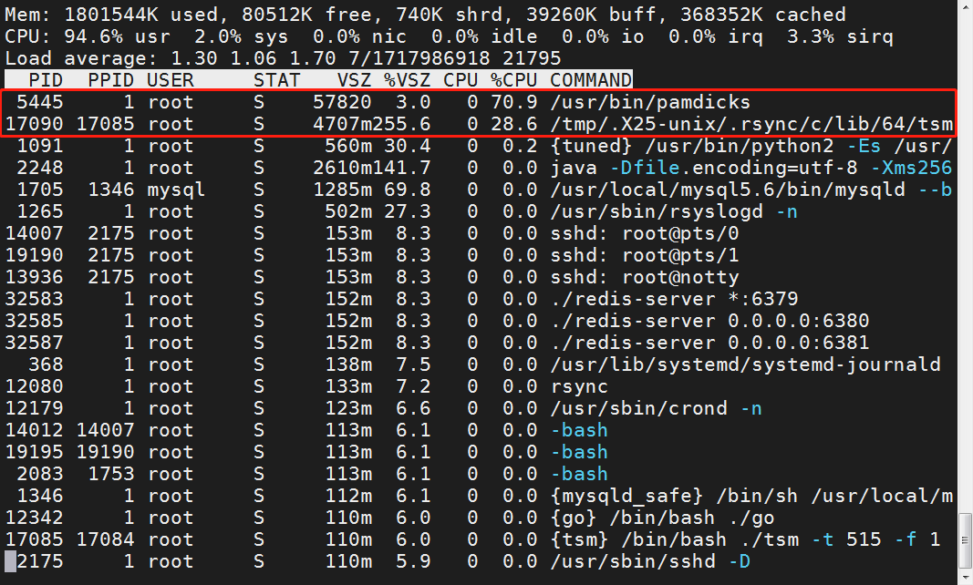busybox top command