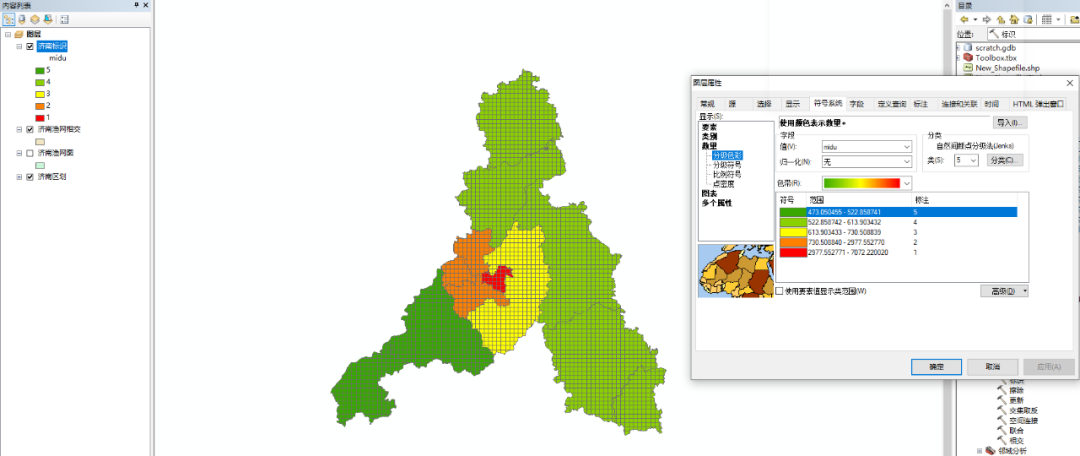 arcgis 人口密度_中国人口密度图