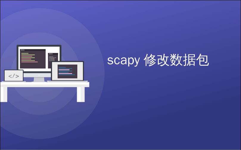 scapy 修改数据包